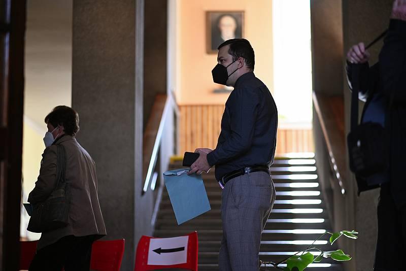 Parlamentní volby na Základní škole T. G. Masaryka v Kutné Hoře.
