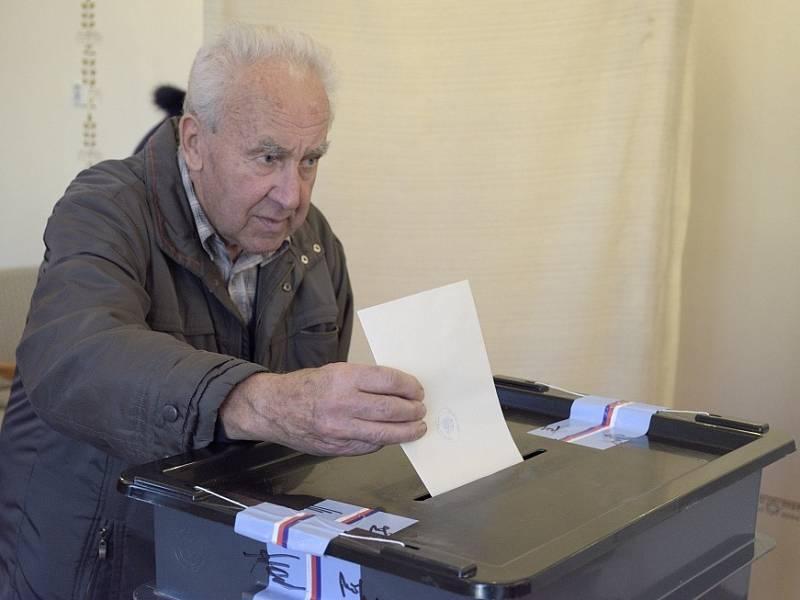 Parlamentní volby ve Zbraslavicích.