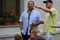 Z druhého dne 19. letního multižánrového festivalu Tyjátrfest na Kaňku.