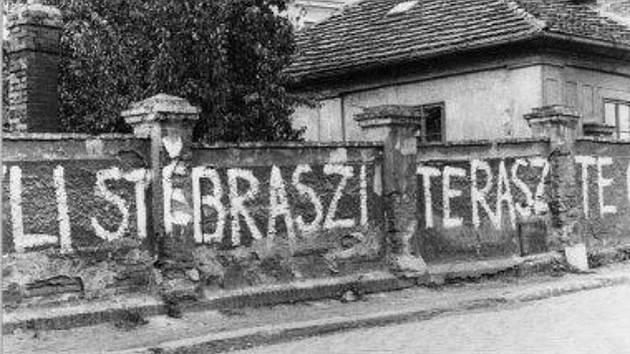 Protiokupační nápisy v Čáslavi: Ostrý roh.