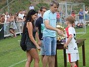 Z krajského finále starších přípravek v Čáslavi - nejlepší hráč turnaje: Viktor Liška (FK Sellier & Bellot Vlašim).