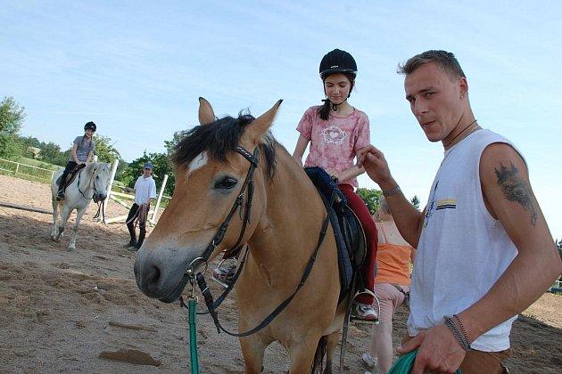 Dítě a kůň - prázdniny koňmo 2009.