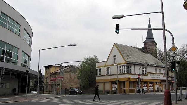 Křižovatka U Podlipných v Kutné Hoře.