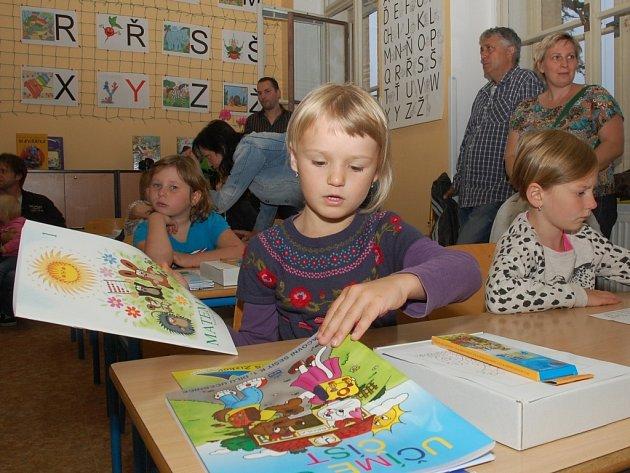 První školní den na Základní škole Žižkov v Kutné Hoře 1. září 2014.