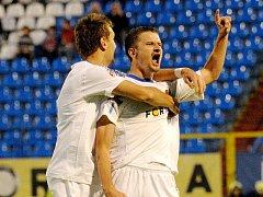 Tomáš Frejlach se raduje z gólu.