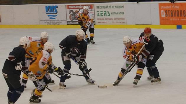 Hokej, II. liga: Sršni - Lvi Chotěboř. Kutná Hora. 4.12.2011
