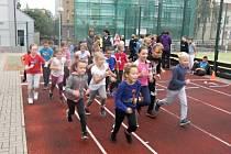 Ze sportovního dne žáků 1. stupně na ZŠ T. G. Masaryka v Kutné Hoře v rámci Evropského týdne sportu.