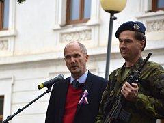 Sté výročí Československa si připomněli v Čáslavi v pátek 26. října.