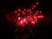 Novoroční ohňostroj v Kutné Hoře.