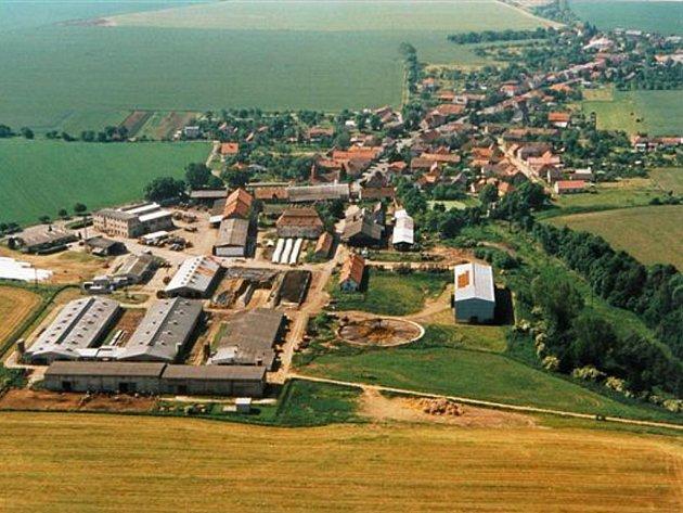 Letecký snímek Krchleb.