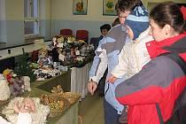 Z výstavy panenek pro dětský fond UNICEF v rámci slavnostního rozsvícení vánočního stromu ve Zruči nad Sázavou v roce 2008.