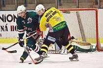 Z hokejového střetnutí play off krajského přeboru Kutná Hora - Žabonosy (3:0)