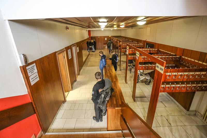 Z veletrhu učebních a studijních oborů v Kulturním domě Lorec v Kutné Hoře.