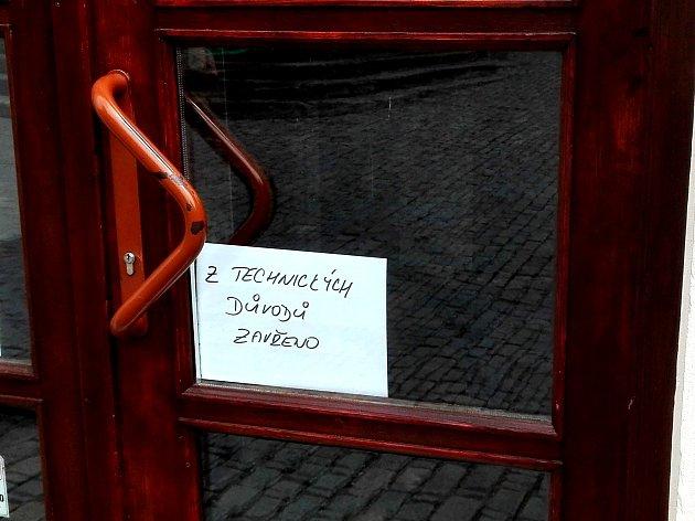 Některé obchody a podniky v Kutné Hoře musely kvůli výpadku proudu zavřít.