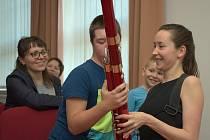 Z koncertu dívčího fagotového kvarteta Fagotiky ve Spolkovém domě ve Zruči nad Sázavou.