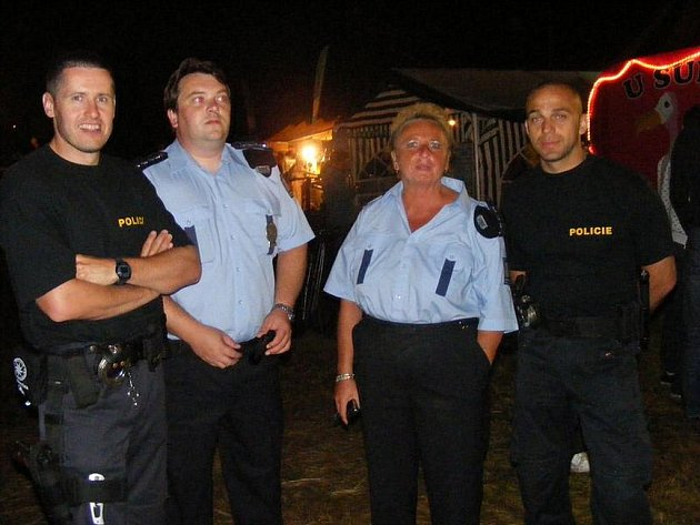 Policie na O2 Sázavafestu v Kácově.