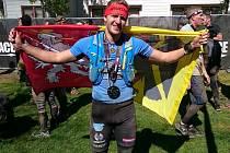 Michal Pavlík v cíli Mistrovství světa Spartan Race 2015 v amrickém Squaw Valley.