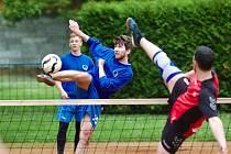 Snímek z nohejbalového utkání Vrdy - Nymburk.