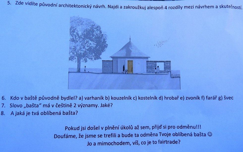 Bašta v areálu evangelického kostela v Čáslavi.