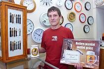 Hodinář Petr Šindelář z Kutné Hory se stal vítězem soutěže o nejlepšího fachmana Kutnohorska.