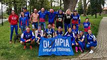 Tým Olympia Spartan Training Kutná Hora na 7. ročníku Zručského májového běhu 16. května 2021.