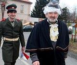 Masopustní průvod prošel Hraběšínem.