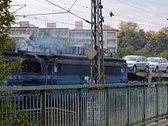 V Čáslavi hořela lokomotiva.