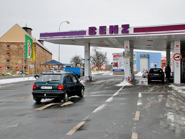 Čerpací stanice Benz v Suchdole
