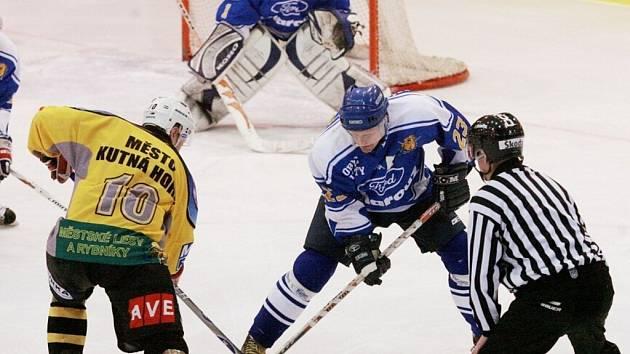 Z utkání II. hokejové ligy Kutná Hora - Řisuty (4:2)