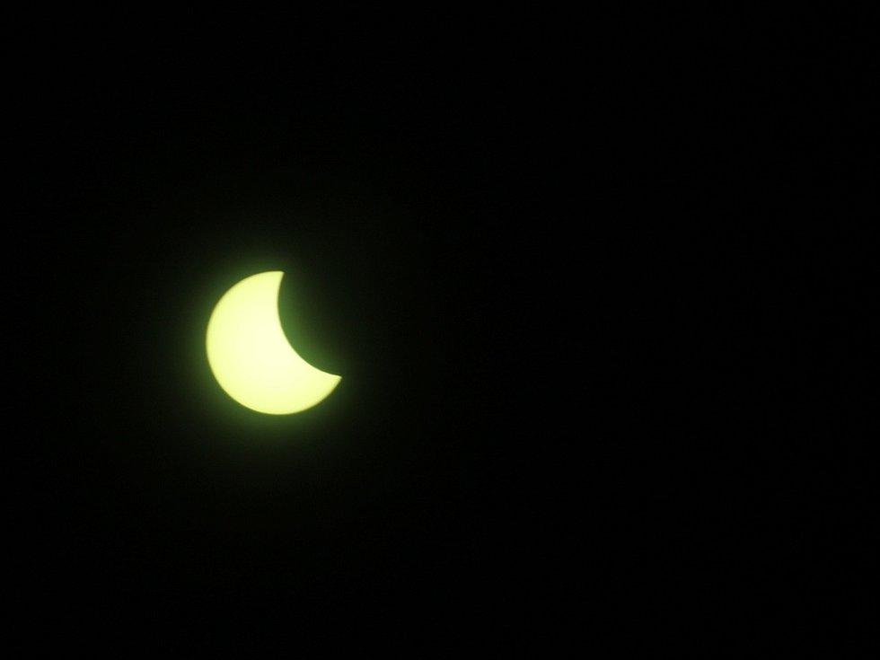 Zatmění Slunce pozorované z Kutné Hory