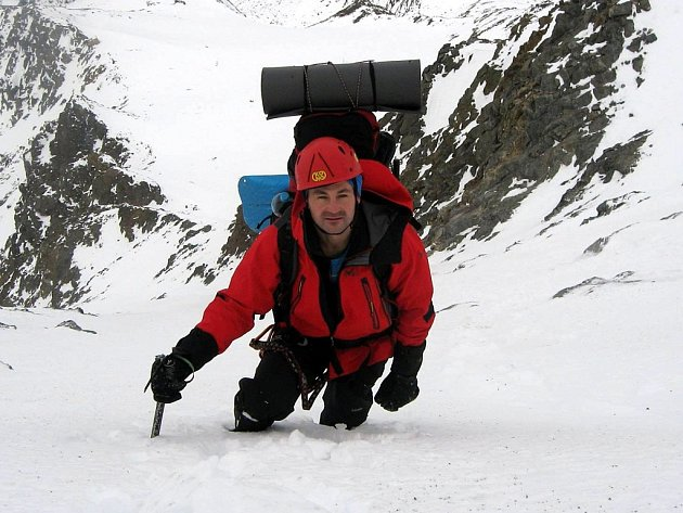 Tomáš Pilc cestou na Mont Blanc.