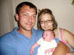 Veronika Najbrtová se narodila 29. července v Čáslavi. Vážila 2550 gramů a měřila 49 centimetrů. Doma v Chotuticích ji přivítali maminka Martina a tatínek Lukáš.