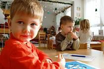 Děti v mateřské škole.