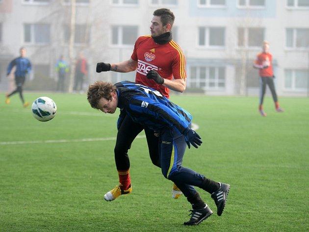 Kutná Hora porazila juniorku Dukly 3:1, 18. ledna 2014.