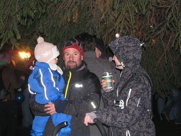 Rozsvícení vánočního stromečku v Kutné Hoře 4. prosince 2012