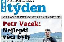 Titulní strana dvacátého osmého čísla týdeníku Kutnohorský týden.