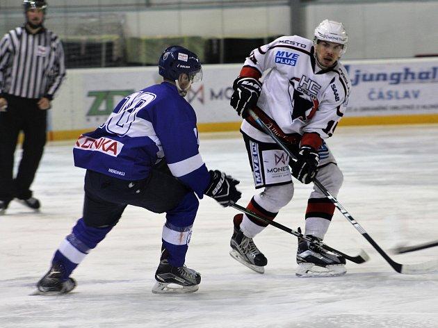 Čáslavští hokejisté rozhodli o výhře nad PZ Kladno v přesilovkách ve třetí třetině.