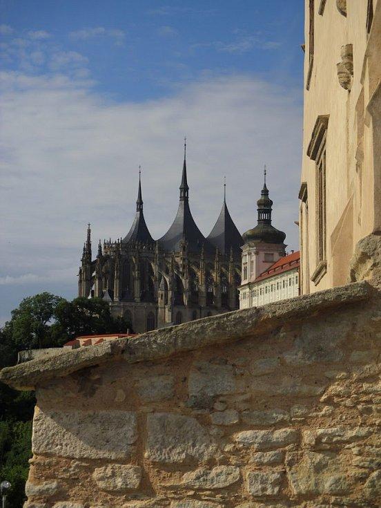 Kutná Hora, pohled na chrám svaté Barbory.