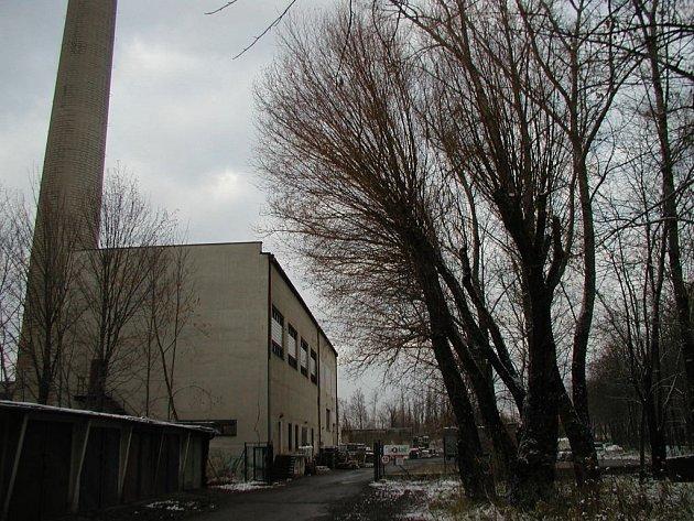 Areál bývalé mazutové kotelny.