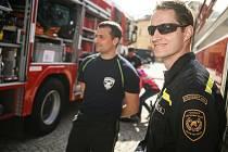 Z oslavy 50. výročí založení profesionálních hasičů v Kutné Hoře.