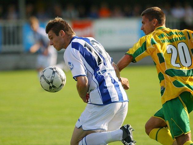 Z utkání II. ligy Čáslav - Sokolov 1:0, neděle 17. srpna 2008