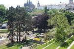 Z rekonstrukce parku po Vlašským dvorem v Kutné Hoře.