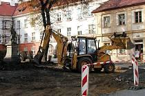 Horní část Václavského náměstí v Kutné Hoře.