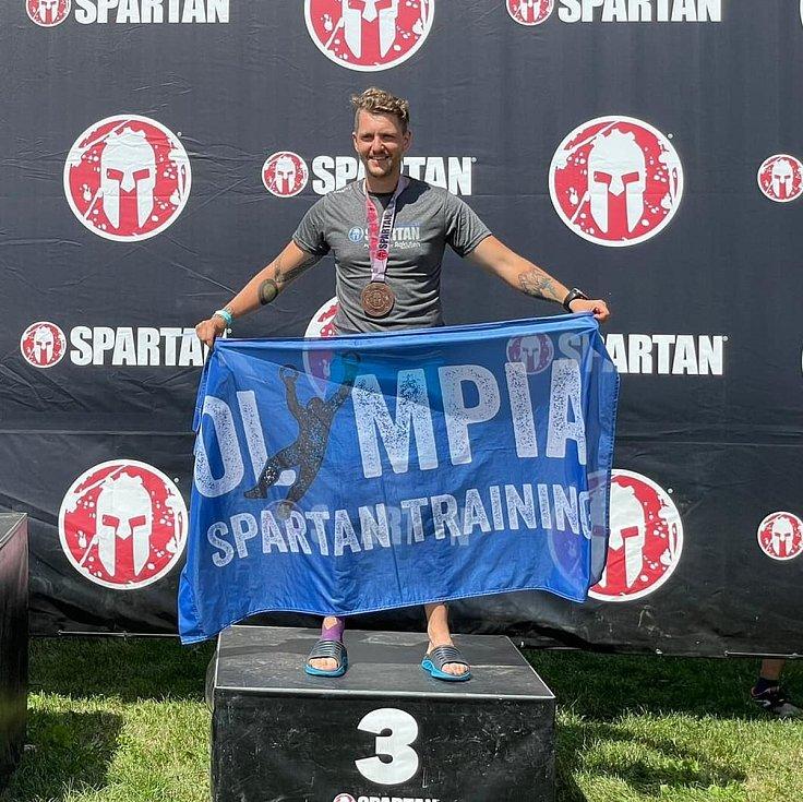 Olympia Spartan Training Kutná Hora v Liberci. Na snímku třetí v Age Group 30-34 ze Supru Michal Pavlík.