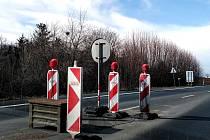 Z jízdy po obchvatu Čáslavi před druhou etapou rekonstrukce tří mostů na silnici I/38.