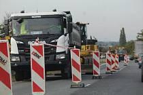 Doprava na opravovaném úseku silnice I/38 mezi Kutnou Horou a Kolínem.