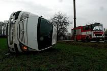 Dopravní nehoda mezi Novými Dvory a Svatou Kateřinou.