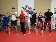 Kutnohohorští kickboxeři na prvním novoročním tréninku.