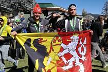 Spartani Michal Pavlík (vlevo) a Tomáš Tvrdík po MS Spartan Race 2016.