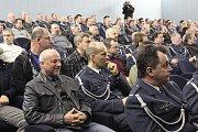 Slavnostní nástup na 21. základně taktického letectva v Čáslavi u příležitosti 20. výročí vstupu ČR do Severoatlantické aliance.